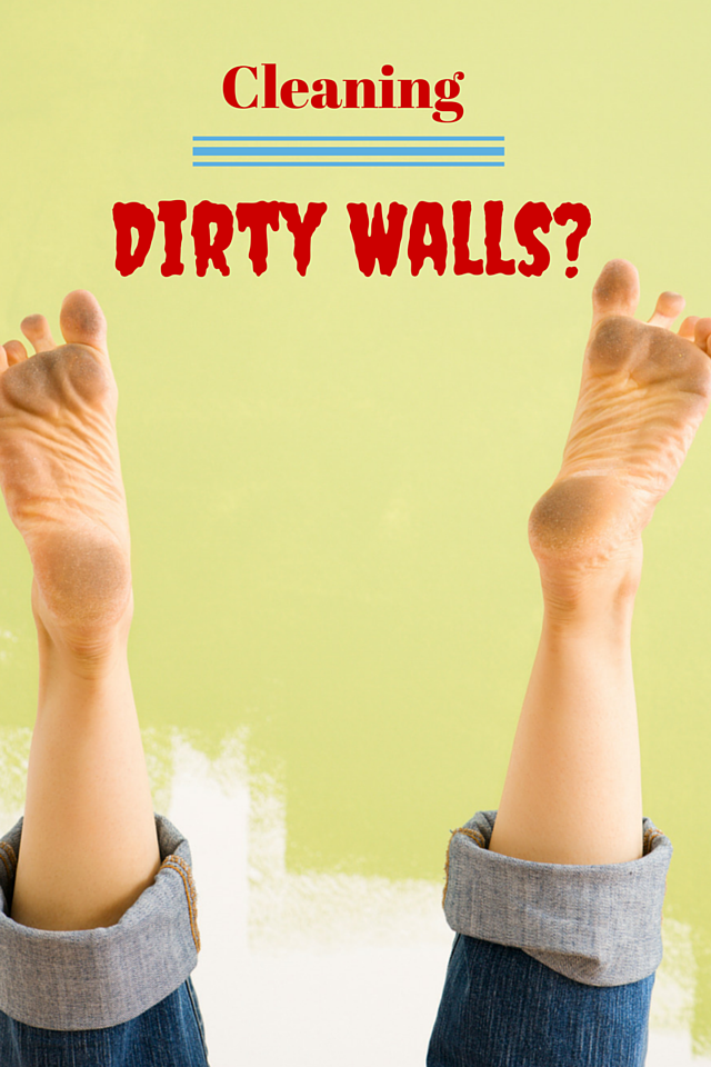 Cleaning fingerprints and dirt off of a painted wall
