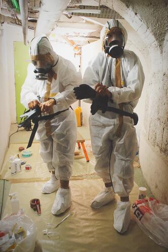 Painting Confined Space