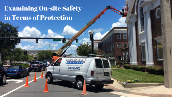 Examining On-site Safety in Terms of Protection