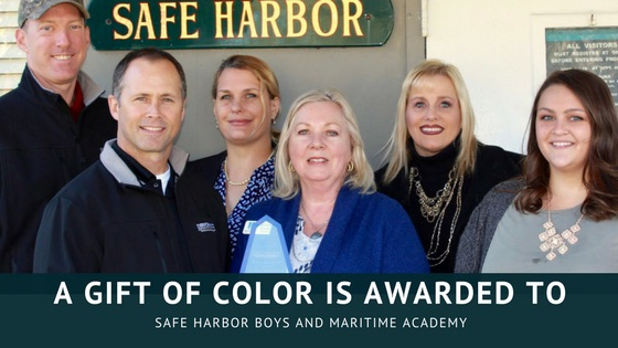 Gift of Color Awarded to Safe Harbor Boys Home and Maritime Academy