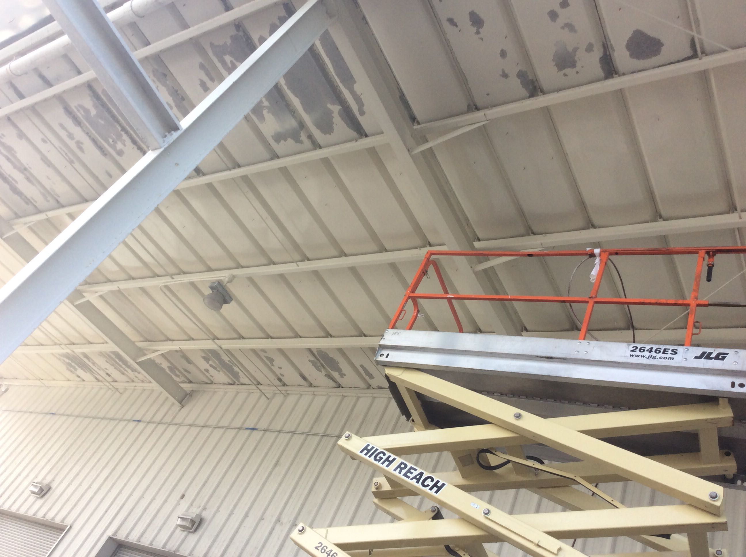 Painting Industrial Ceilings
